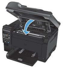 close the print cartridge door - Laserjet 100 Color Mfp M175nw