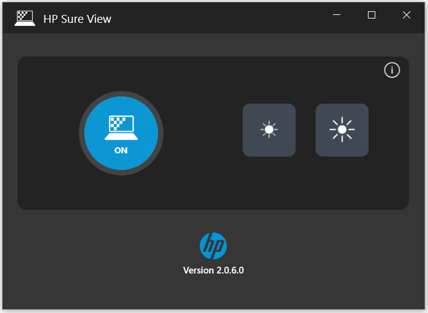 HP Sure View app