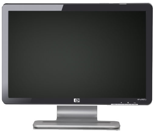 HP Pavilion w1907v LCD wide-screen flat panel monitor