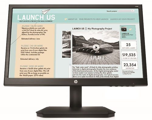 HP V190 18.5-inch LED Backlit Monitor