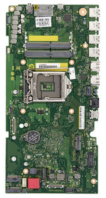 Silverstone motherboard top view