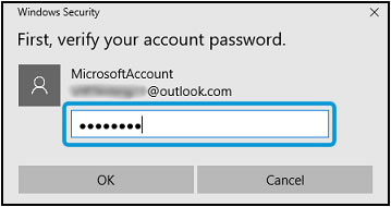 Verifying your account password before the PIN is removed