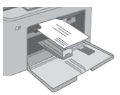 Loading envelopes into the priority input tray