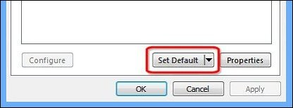 how to change default sound device windows 8