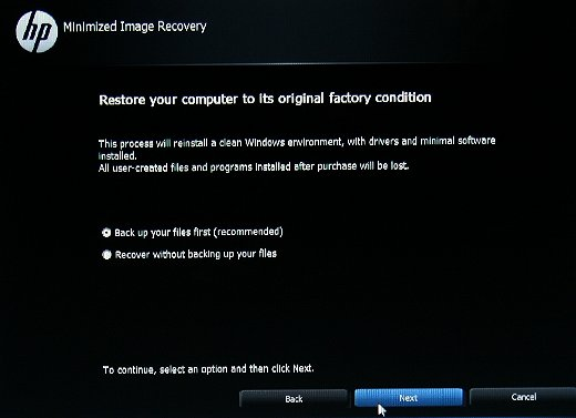 Options de sauvegarde