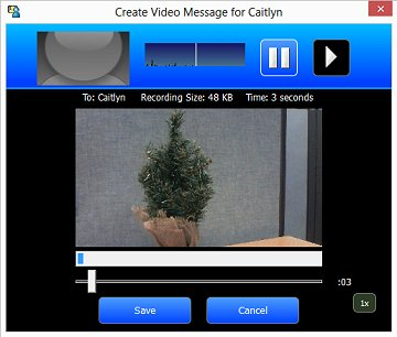 Image of a video message being recorded