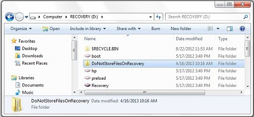 how to create recovery partition windows 8 hp