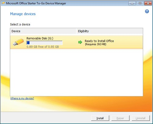 how to save microsoft office to a flash drive