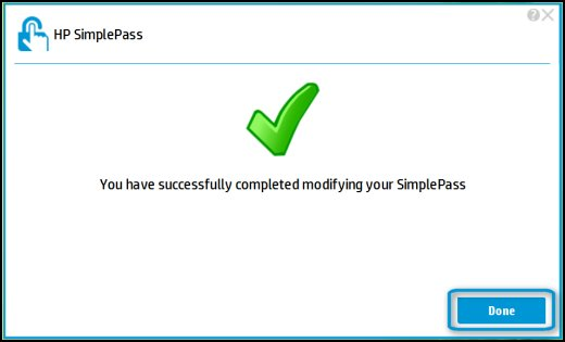 Successful SimplePass change