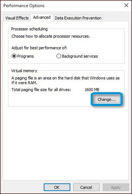 how to change page file on windows 10