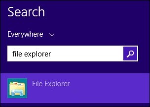 The search field for File Explorer