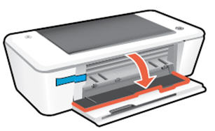 Image: Open the output tray and cartridge access door