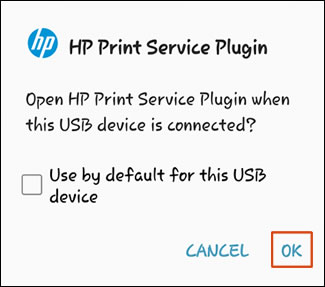 Activiating The HP Print Service Plugin