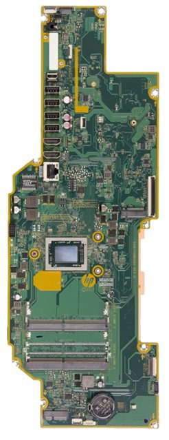 Bajoran-UF motherboard top view