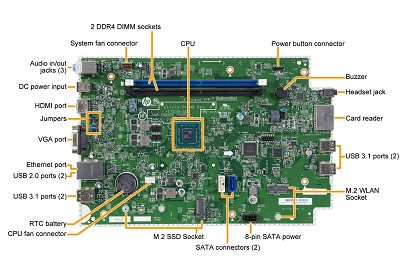Clivia motherboard top view