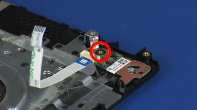 Removing and Replacing the Power Button Board for HP Pavilion 14