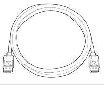 Image of the   HP DisplayPort Cable Kit.