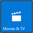 Movies & TV tile