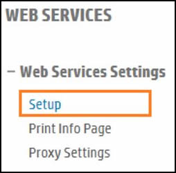 Web Services section when Web Services is disabled