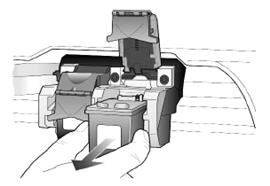 Illustration of removing the cartridge