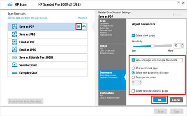 HP ScanJet Pro 2000 s1, 3000 s3, HP ScanJet Enterprise Flow