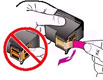 Remove the protective tape from the cartridges