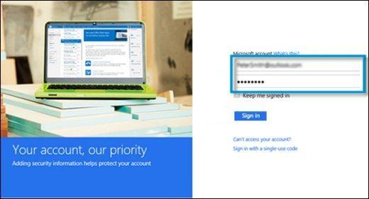Microsoft account login and password