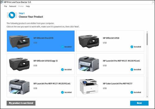 Sélection de votre imprimante