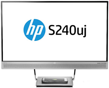 HP EliteDisplay S240uj USB-C Wireless Charging Monitor