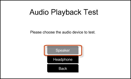 Testing the speaker