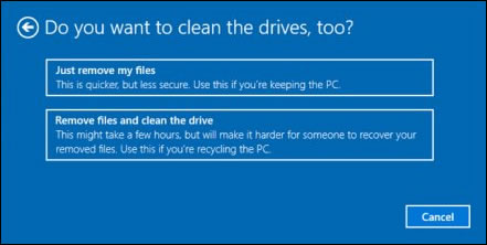 Do you want to clean your drives, too? message