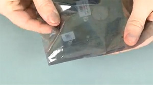 Placing the hard drive in an anti-static bag