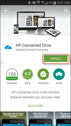 Instalar HP Connected Drive