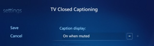 Setting Closed Captioning