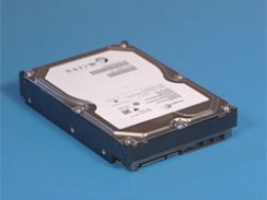 The hard drive on a flat surface