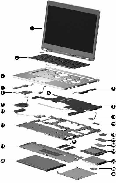 Hp Elitebook Folio 9480m Notebook Pc Spare Parts Hp