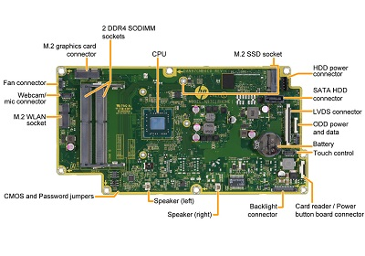 Rhone motherboard top view