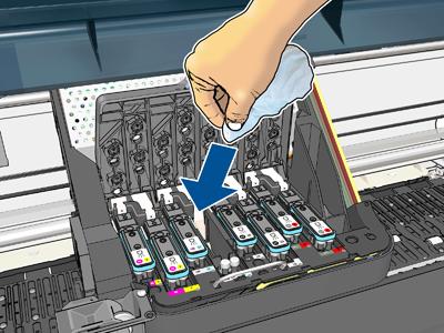 清洁打印头的电路连接线