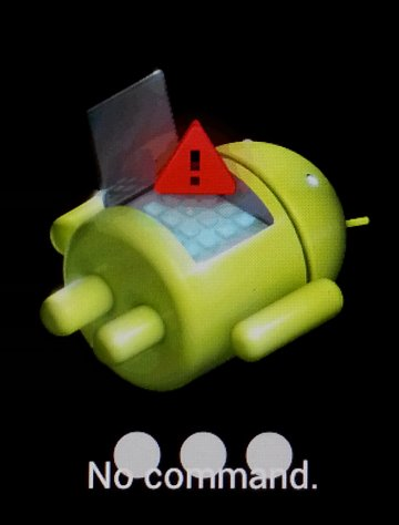 "Android graphic with the message ""No command"""