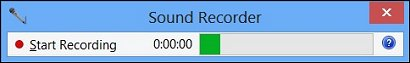 Sound Recorder initial screen