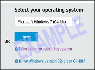 Select your operating system