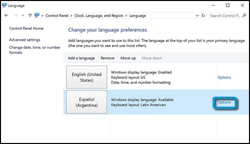hp pcs changing languages windows 10 hp174 customer