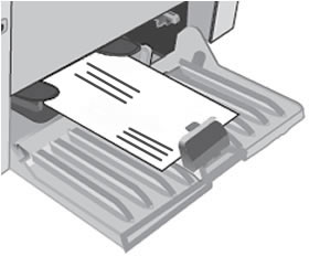 Loading envelopes into the input tray