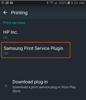 HP Printers - Printing with the Samsung Print Service Plugin