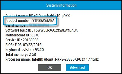 Image of System Information window