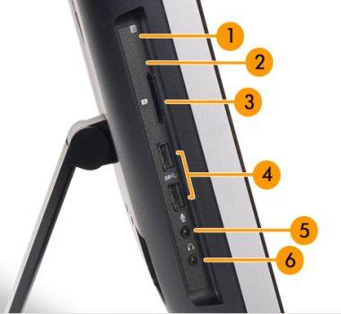 Image of the left I/O ports