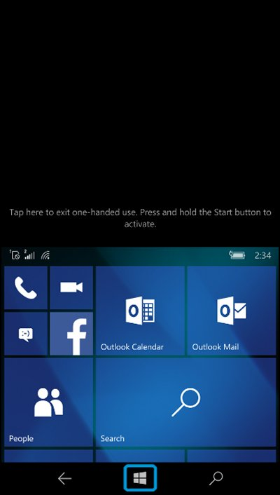Start screen with screen size cut in half and Start button highlighted