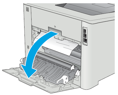 Hp Color Laserjet Pro M452 Clear Paper Jams In The Rear Door And Fuser Area Nw Model Hp Customer Support