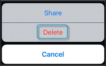 iOS Delete button
