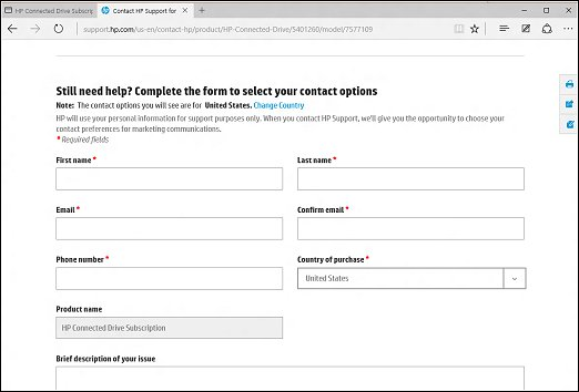 Contact options form